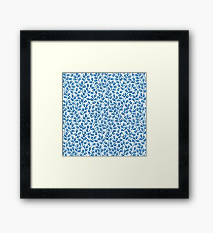 branches pattern Framed Print