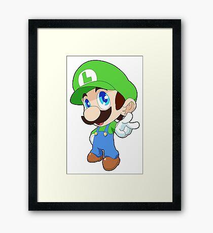 Super Smash Bros. Luigi Framed Print
