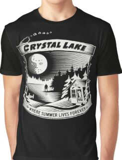 Camp Crystal Lake: Where Summer Lives Forever Graphic T-Shirt