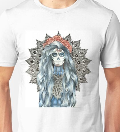Day of the Dead Woman Mandala Unisex T-Shirt