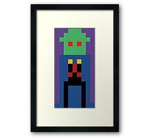 8-Bit Manhunter Framed Print