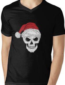 Scary Christmas Skull Mens V-Neck T-Shirt