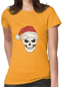 Scary Christmas Skull Womens Fitted T-Shirt