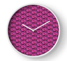 mauve flower Clock