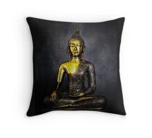 Goldener Buddha Throw Pillow