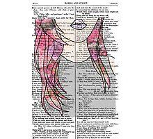 Grunge Girl Print- Pink Roses Photographic Print