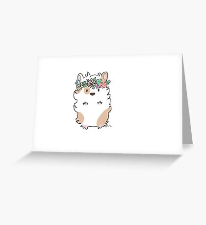 Pretty Hamster Greeting Card