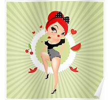 Pin up girl-retro style  Poster