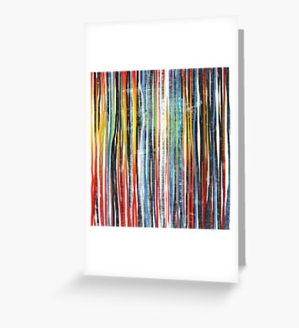color stripes Greeting Card