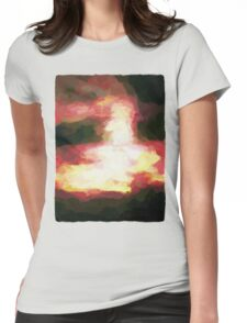 Ethereal Red Sky Womens Fitted T-Shirt