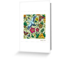 doudle flower Greeting Card