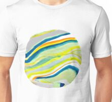 Earth Lines Marbling, Unite Unisex T-Shirt