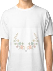 Spring flower laurel branches. Hand drawn design elements. Classic T-Shirt