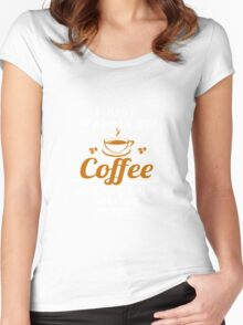 I Just Want To Sip Coffee & Pet My Miniature Pinscher Women's Fitted Scoop T-Shirt