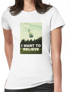 Believe in Peridot Womens Fitted T-Shirt