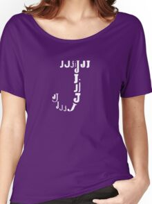 Found Letters - J Women's Relaxed Fit T-Shirt