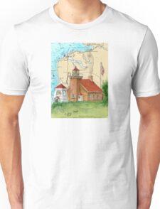 Little Traverse Lighthouse MI Chart Cathy Peek Unisex T-Shirt
