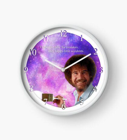 Bob Ross Paints Space Clock  Clock
