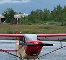 Float plane 11, Lake Hood, Anchorage, Alaska, USA  Sticker