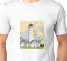 Tibbetts Pt Lighthouse NY Nautical Chart Peek Unisex T-Shirt