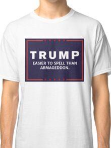 Anti-Trump Armageddon Dark Logo Classic T-Shirt