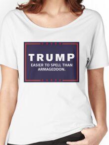 Anti-Trump Armageddon Dark Logo Women's Relaxed Fit T-Shirt
