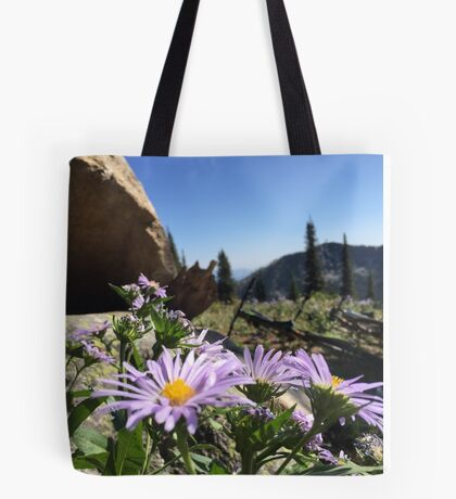 Mountain Flowers and Bikes Tote Bag