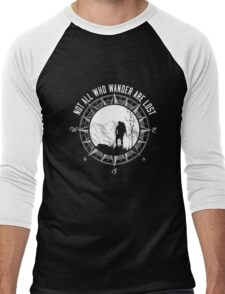 Not all who Wander are lost T-Shirt Men's Baseball ¾ T-Shirt