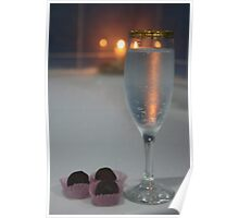 A Perfect Romance. Jacuzzi, Wine and Chocolates Poster