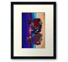 Beer on the beach Framed Print