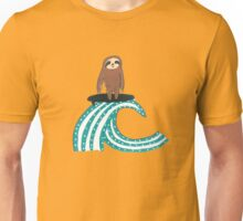 Surfing Sloth Unisex T-Shirt