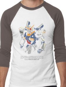 RX-178 Gundam MK 2 Men's Baseball ¾ T-Shirt