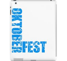 alt kratzer risse spaß oktoberfest text flagge blau weiss muster party feiern design cool  iPad Case/Skin