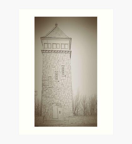 fire tower Art Print