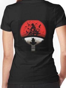 *Uchiha Itachi* Women's Fitted V-Neck T-Shirt