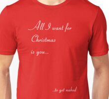 All I Want for Christmas is You… to Get Naked Unisex T-Shirt