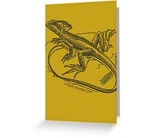 The meek and mild basilisk...posing for the camera! Greeting Card
