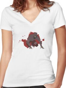 Hunter - Left 4 Dead Women's Fitted V-Neck T-Shirt