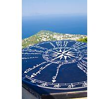 Compass Rose Atop Capri Photographic Print