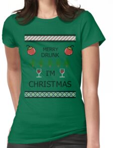 Merry Drunk Womens Fitted T-Shirt