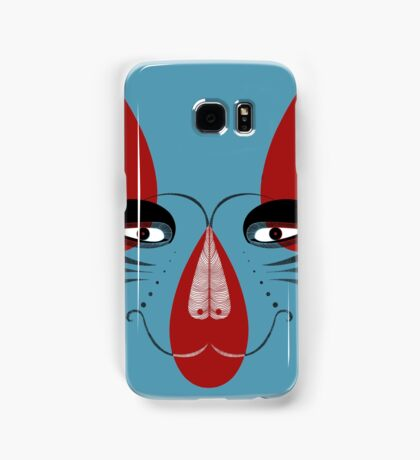 Coyote the Trickster in red, black and white Samsung Galaxy Case/Skin