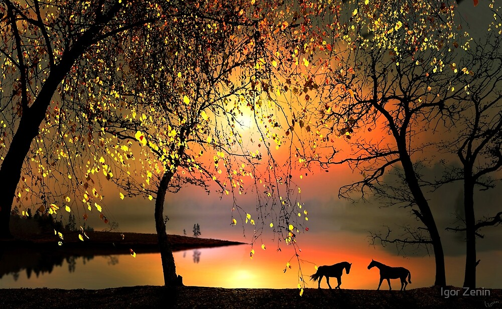 At The Sunset by Igor Zenin