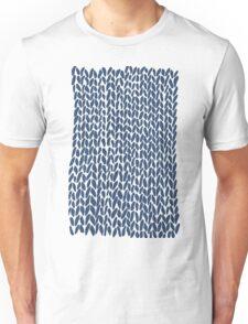 Hand Knit Navy Unisex T-Shirt