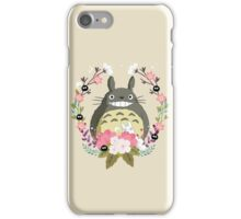Totoro and the Spring iPhone Case/Skin
