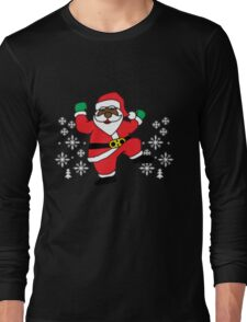 Hit Them Folks Santa ugly Christmas shirt! Long Sleeve T-Shirt