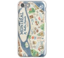Map of Montreal, Canada iPhone Case/Skin