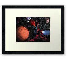 Space Wars Framed Print