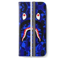 Camouflage Blue Shark Hoodie iPhone Wallet/Case/Skin