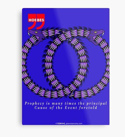 Thomas Hobbes Quote Metal Print