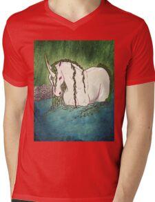 Willow Unicorn Mens V-Neck T-Shirt